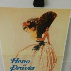 Coleccionismo de carteles: CARTEL POSTER PUBLICIDAD FACSIMIL 45CMX29CM HENO DE PRAVIA FEDERICO RIBAS 1951. Lote 99044935