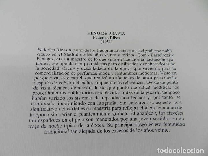 Coleccionismo de carteles: CARTEL POSTER PUBLICIDAD FACSIMIL 45CMX29CM HENO DE PRAVIA FEDERICO RIBAS 1951 - Foto 2 - 99044935