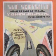 Collectionnisme d'affiches: CARTEL REPRODUCCION PUBLICIDAD SAN SEBASTIAN GRAN PREMIO ESPAÑA 1934 - TAMAÑO A3+ : 330X483 MM. Lote 100222267