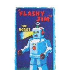 Coleccionismo de carteles: SERIGRAFÍA ROBOT FLASHY JIM. EDITADA EN FRANCIA AÑOS 80. Lote 36866452