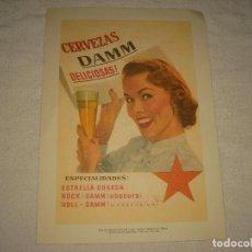 Coleccionismo de carteles: CARTEL PUBLICITARIO CERVEZAS DAMM . REPRODUCCION . 29,5 X 21 CM.. Lote 102226811
