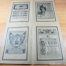 Coleccionismo de carteles: CARTEL POSTER 68 X 47 REPRODUCCIONES DE 4 CARTELES ANTIGUOS DE LA ESCOLA CATALANA D'ART DRAMATIC. Lote 104771775