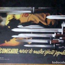 Coleccionismo de carteles: REPLICA CARTEL GUERRA CIVIL ESPAÑOLA.1936. Lote 105085027