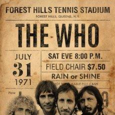 Collezionismo di affissi: THE WHO - 31 JULY 1971 CONCERT - CARTEL CONCIERTO 30X40. Lote 121554496