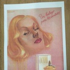 Colecionismo de cartazes: REPRODUCCION DE CARTEL UN HALAGO PARA LOS SENTIDOS, COCAINA EN FLOR. 48X33CM. LAMIGRANDE-059,5. Lote 107569307