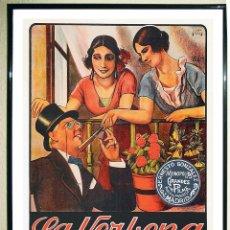 Coleccionismo de carteles: CARTEL POSTER VINTAGE - LA VERBENA DE LA PALOMA - DE AÑO 1936. REPRODUCCION EXACTA DEL ORIGINAL. T. Lote 107808355