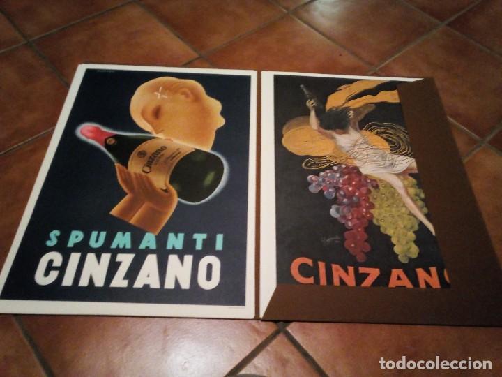 ESTUCHE CON 5 REPRODUCCIONES CARTELES DE EPOCA CINZANO ( MANIFESTI D´EPOCA) VER 9 FOTOS (Coleccionismo - Reproducciones de carteles)