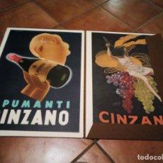 Coleccionismo de carteles: ESTUCHE CON 5 REPRODUCCIONES CARTELES DE EPOCA CINZANO ( MANIFESTI D´EPOCA) VER 9 FOTOS. Lote 110046731