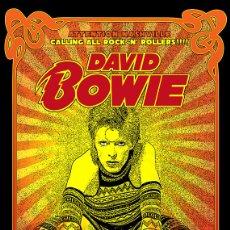 Colecionismo de cartazes: DAVID BOWIE - ZIGGY STARDUST TOUR, NASHVILLE 23 FEB 1973 - CARTEL CONCIERTO 40X30,. Lote 119427152