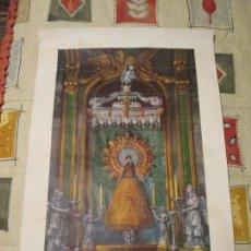 Coleccionismo de carteles: AUTENTICA REPRODUCCIÓN DE NUESTRA SEÑORA VIRGEN DEL PILAR, RIGOBERTO ARZOBISPO DE ZARAGOZA. 1940. Lote 111362211