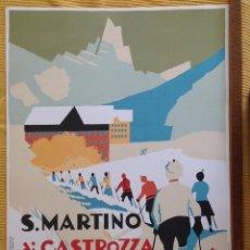 Collectionnisme d'affiches: ESQUI. SAN MARTINO DI CASTROZZA, REPRODUCCION. IMP. RENOGRAFICA BOLOGNA. 45 X 68 CM. VELL I BELL.. Lote 113911787
