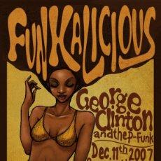 Colecionismo de cartazes: FUNCADELIC & GEORGE CLINTON - CONCERT GLASGOW UK 12-11-2007 !! CARTEL CONCIERTO 30X40 !!. Lote 114618787