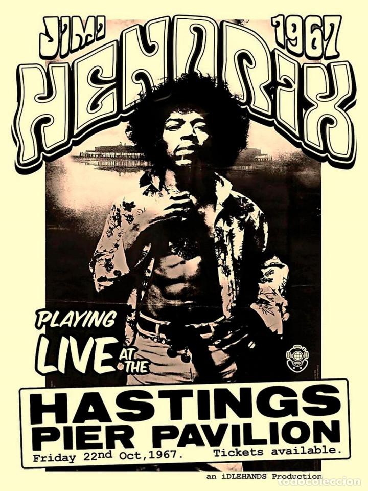 JIMI HENDRIX - HASTING PIER PAVILION 22 OCT. 1967 !! CARTEL CONCIERTO 30X40 !! (Coleccionismo - Reproducciones de carteles)