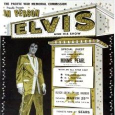 Collezionismo di affissi: ELVIS PRESLEY - PEARL HARBOR BENEFIT CONCERT 1961 - CARTEL CONCIERTO 30X40. Lote 116447756