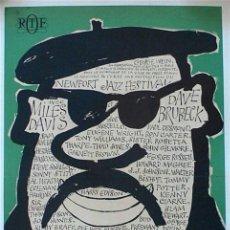 Colecionismo de cartazes: PARIS JAZZ FESTIVAL 1964 - MILES DAVIS, DAVE BRUBECK, HERBIE HANCOCK - CARTEL CONCIERTO 30X40. Lote 151065760