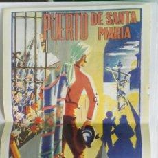 Coleccionismo de carteles: SEMANA SANTA PUERTO DE SANTAMARÍA PÓSTER REPRODUCCIÓN 1950. Lote 118953946