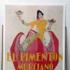Colecionismo de cartazes: REPRODUCCION CARTEL EL PIMENTON MURCIANO. 30 X 43 CM. LAMIGRANDE-181 ,5. Lote 119190895