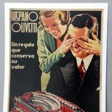 Colecionismo de cartazes: REPRODUCCION CARTEL HISPANOOLIVETTI, UN REGALO QUE CONSERVA SU VALOR. 29,5X41,8CM. LAMIGRANDE-230 ,5. Lote 119858699