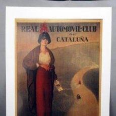 Coleccionismo de carteles: REPRODUCCION CARTEL REAL AUTOMOVIL-CLUB DE CATALUÑA. COPA TIBIDABO 14-5-1914. LAMIGRANDE-241. Lote 119934707