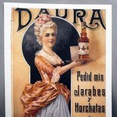 Colecionismo de cartazes: REPRODUCCION CARTEL DAURA, PEDID MIS JARABES Y HORCHATAS, BARCELONA. 28,4X 41,8CM. LAMIGRANDE-248,5. Lote 175829714