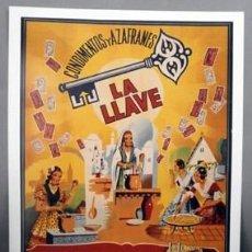 Collectionnisme d'affiches: REPRODUCCION CARTEL CONDIMENTOS Y AZAFRANES LA LLAVE, NOVELDA, ESPAÑA. 29X42,5CM. LAMIGRANDE-256 ,5. Lote 119948775