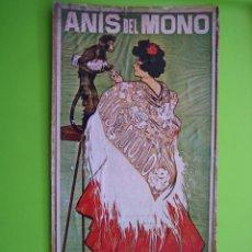 Coleccionismo de carteles: REPRODUCCIÓN DE ANTIGUO CARTEL ANÍS EL MONO. Lote 120241351