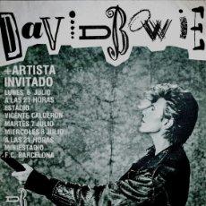 Collectionnisme d'affiches: DAVID BOWIE - THE GLASS SPIDER TOUR, SPAIN 1987 !! CARTEL CONCIERTO 30X40 !!. Lote 156614045