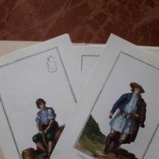 Coleccionismo de carteles: FACSIMILES DE LOS GRABADOS ORIGINALES S XVIII. TRAJES DE VALENCIA. COLECCIÓN COMPLETA.. Lote 122946115