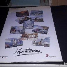 Coleccionismo de carteles: CARPETA CON 10 REPRODUCCIONES DE ACUARELAS DE MARTICORENA...PAISAJES DE BURGOS... Lote 125127247