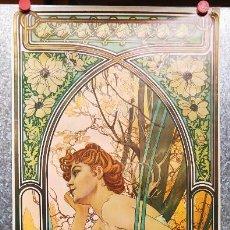 Coleccionismo de carteles: ALFONS MUCHA - REVERIE DU SOIR (1899) - 1975. COPYRIGHT ATHENA REPRODUCTION LTD LONDON AÑO 1975. Lote 126655551