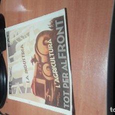 Coleccionismo de carteles: REPRODUCCIÓN CARTEL DE LA GUERRA CIVIL.. Lote 131341346