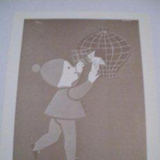 Coleccionismo de carteles: CARTEL PUBLICIDAD CAJA POSTAL DE AHORROS. 1960 (REPRODUCCIÓN FACSÍMIL). 22X17 CM. Lote 131512070