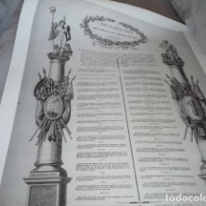 Coleccionismo de carteles: LAMINA REPRODUCCIÓN EN FRANCÉS DE LA DECLARACIÓN D. HUMANOS. Lote 134005622