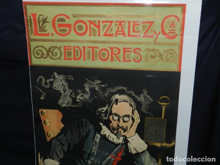 Coleccionismo de carteles: (M) CARTEL ORIGINAL ILUSTRADO POR A UTRILLO - L GONZALEZ Y CIA EDITORES ,OBRAS DE QUEVEDO - Foto 3 - 135202846