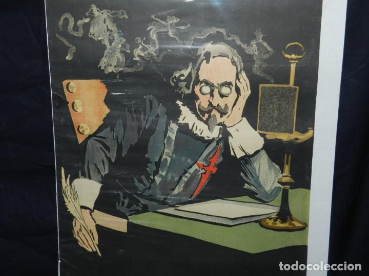 Coleccionismo de carteles: (M) CARTEL ORIGINAL ILUSTRADO POR A UTRILLO - L GONZALEZ Y CIA EDITORES ,OBRAS DE QUEVEDO - Foto 4 - 135202846