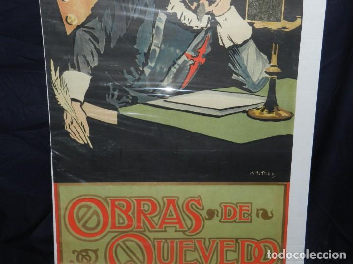 Coleccionismo de carteles: (M) CARTEL ORIGINAL ILUSTRADO POR A UTRILLO - L GONZALEZ Y CIA EDITORES ,OBRAS DE QUEVEDO - Foto 5 - 135202846
