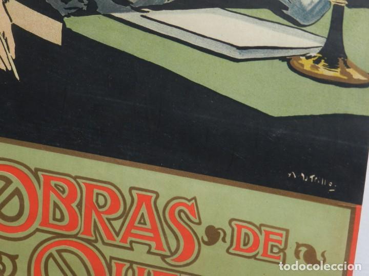 Coleccionismo de carteles: (M) CARTEL ORIGINAL ILUSTRADO POR A UTRILLO - L GONZALEZ Y CIA EDITORES ,OBRAS DE QUEVEDO - Foto 6 - 135202846