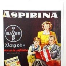 Coleccionismo de carteles: REPRODUCCION DE CARTEL ASPIRINA BAYER, SOBRES Y TUBOS, MARCA DE CONFIANZA.- LAMIGRANDE-319,5. Lote 175829482