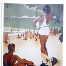 Collectionnisme d'affiches: REPRODUCCIÓN CARTEL CADIZ, DISFRUTE SUS VACACIONES EN LA MAS DELICIOSA PLAYA DEL SUR - LAMI-034,4. Lote 139404014