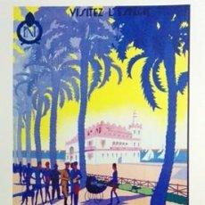 Collezionismo di affissi: REPRODUCCION DE CARTEL ALICANTE LA VILLE QUI N'A PAS D'HIVER LA PLAGE AUX PALMIERS. - LAMIGRANDE-345. Lote 141309790