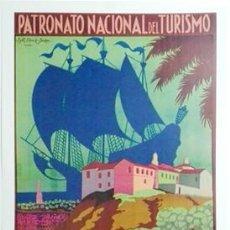 Collezionismo di affissi: REPRODUCCION DE CARTEL HUELVA CUNA DE AMERICA. PATRONATO NACIONAL DE TURISMO - LAMIGRANDE-347. Lote 141898342