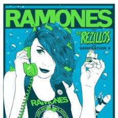 Collezionismo di affissi: THE RAMONES - CONCERT RAINBOW THEATRE 31 DEC. 1977 !! CARTEL CONCIERTO 30X40 !!. Lote 147369310