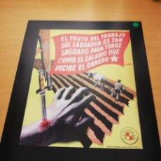 Coleccionismo de carteles: REPRODUCCIÓN CARTEL GUERRA CIVIL (JOSEP RENAU, 1938). Lote 147721218