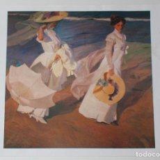 Coleccionismo de carteles: REPRODUCCION CUADRO PASEO A ORILLAS DEL MAR DE SOROLLA. Lote 149812533