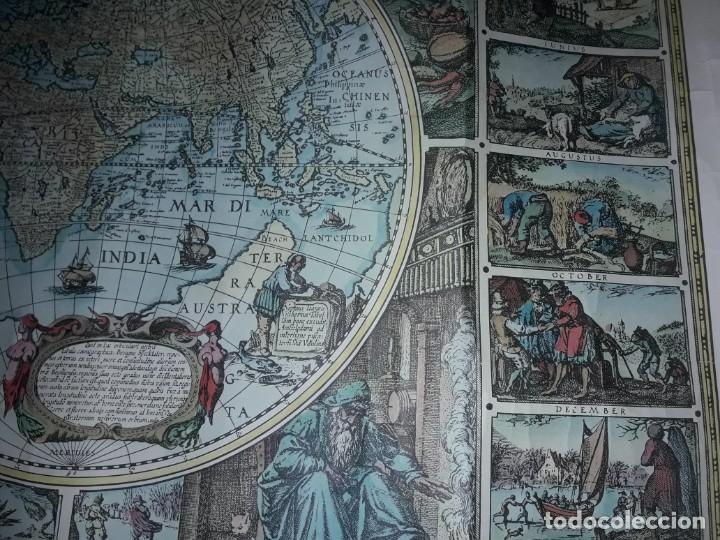 Coleccionismo de carteles: Precioso mapamundi en latín a colores reproducción año 1983 - Foto 4 - 148935442