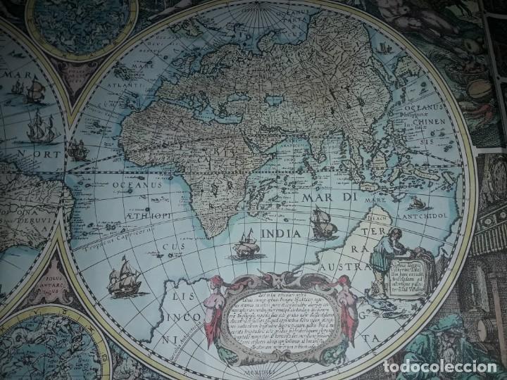 Coleccionismo de carteles: Precioso mapamundi en latín a colores reproducción año 1983 - Foto 6 - 148935442