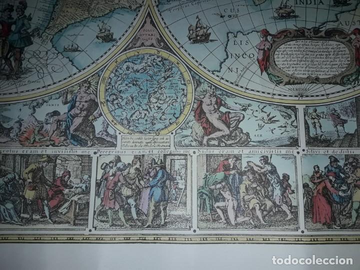 Coleccionismo de carteles: Precioso mapamundi en latín a colores reproducción año 1983 - Foto 7 - 148935442