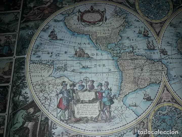 Coleccionismo de carteles: Precioso mapamundi en latín a colores reproducción año 1983 - Foto 10 - 148935442