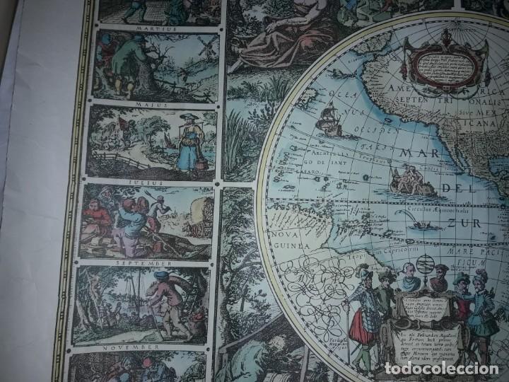 Coleccionismo de carteles: Precioso mapamundi en latín a colores reproducción año 1983 - Foto 13 - 148935442