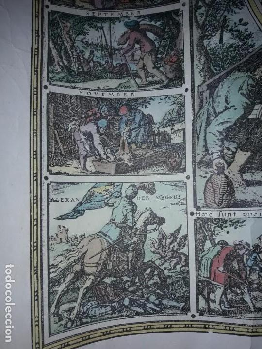 Coleccionismo de carteles: Precioso mapamundi en latín a colores reproducción año 1983 - Foto 23 - 148935442